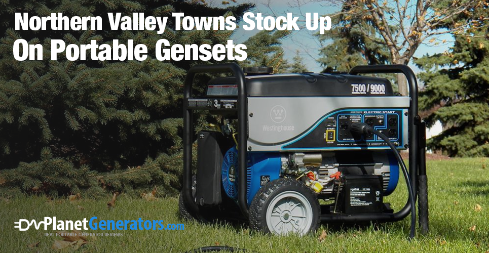 Northern Valley Towns Stock Up On Portable Gensets