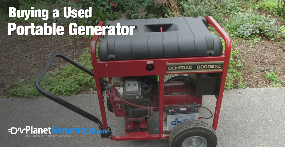 buying a used portable generator